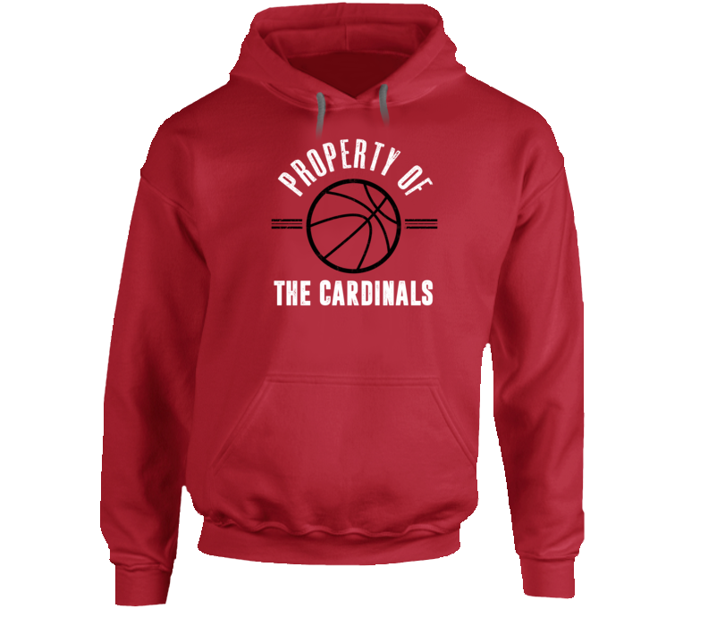 Property Of The Cardinals Basketball Popular Hoodie