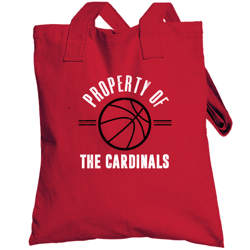 Property Of The Cardinals Basketball Popular Totebag