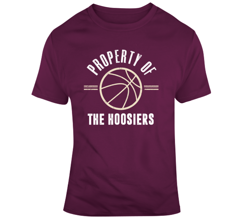 Property Of The Hoosiers Basketball Popular T Shirt