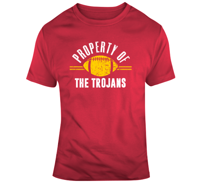 Property Of The Trojans Popular Football T Shirt