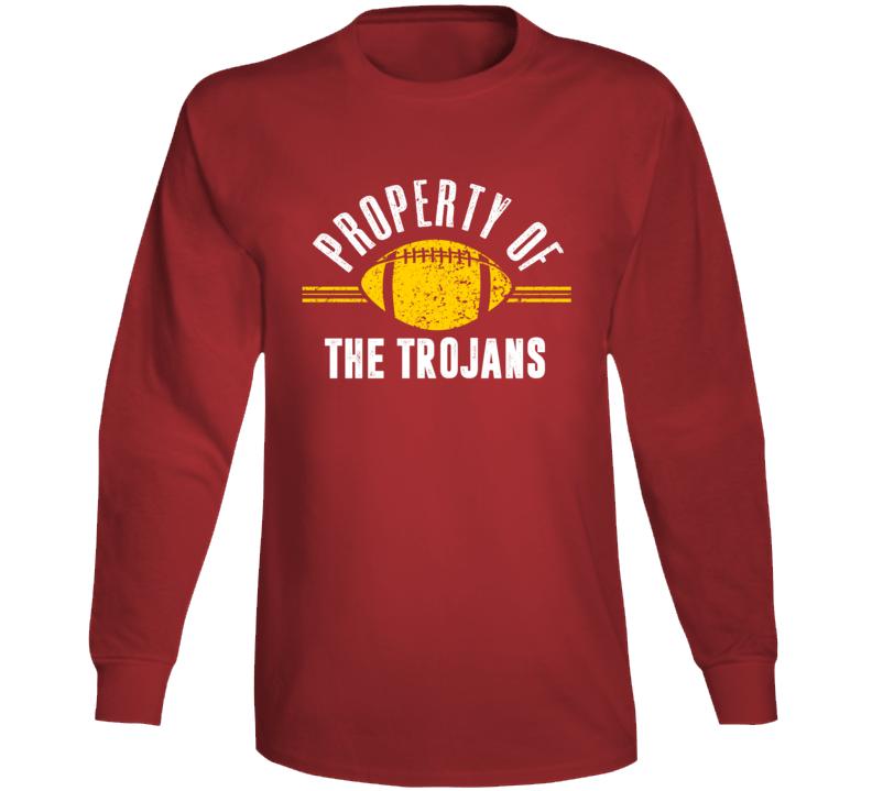 Property Of The Trojans Popular Football Long Sleeve