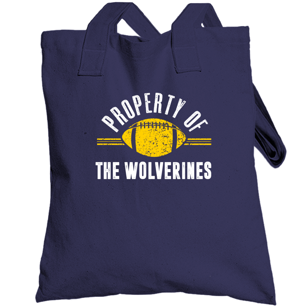 Property Of The Wolverines Popular Football Totebag