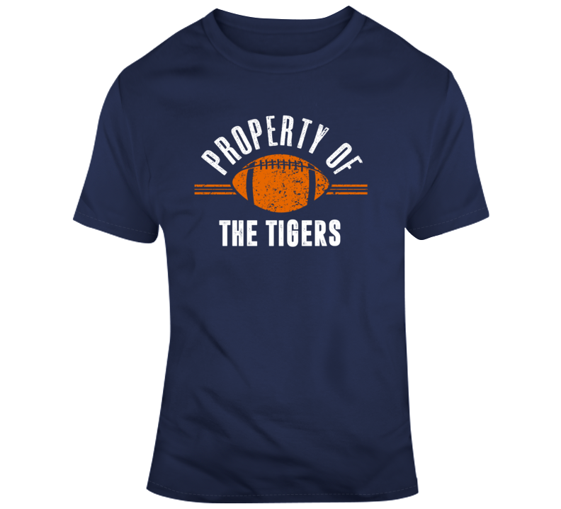 Property Of The Tigers Popular Football T Shirt