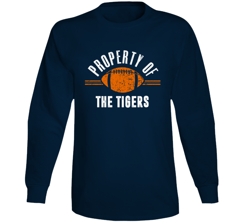 Property Of The Tigers Popular Football Long Sleeve