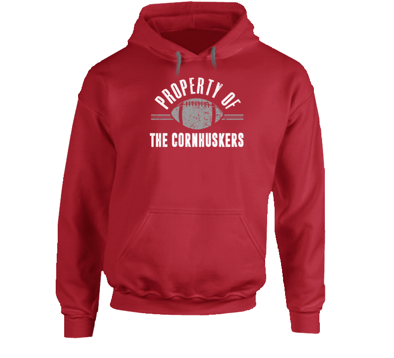 Property Of The Cornhuskers Popular Football Hoodie
