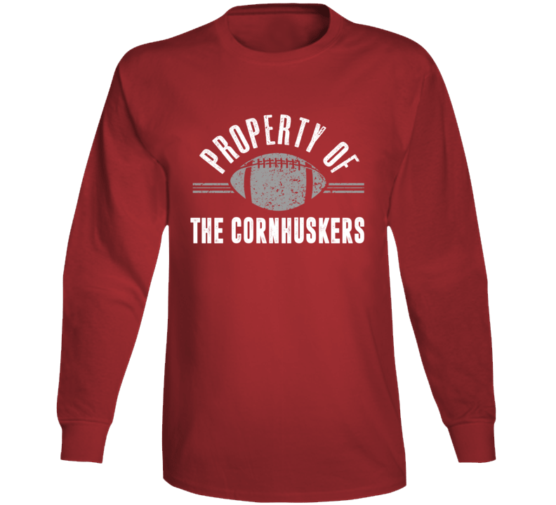 Property Of The Cornhuskers Popular Football Long Sleeve