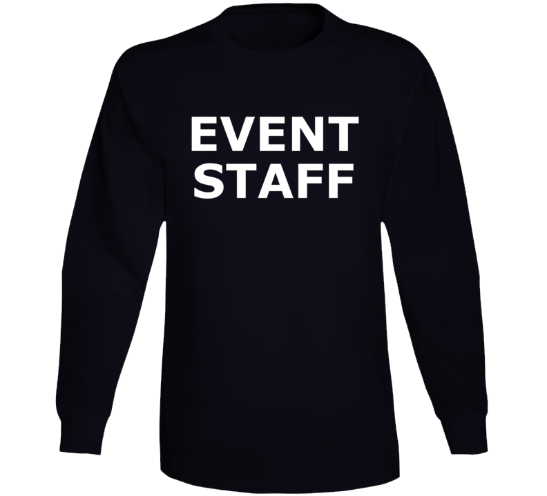 Event Staff ( White Font ) Popular Long Sleeve