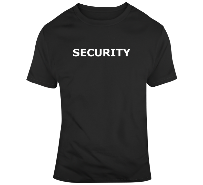 Security ( White Font ) Popular Event T Shirt
