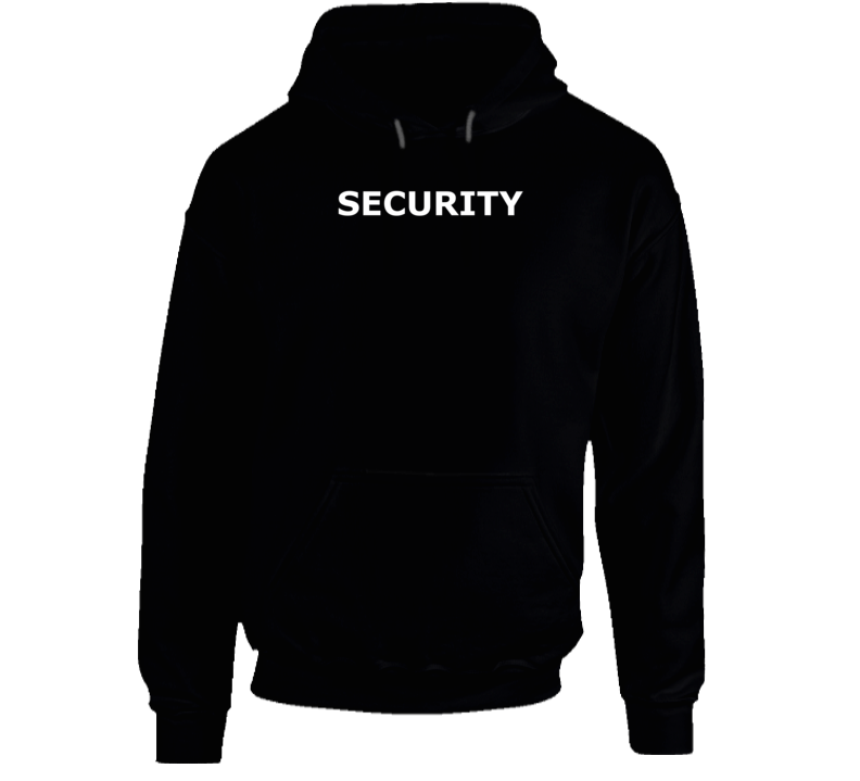 Security ( White Font ) Popular Event Hoodie
