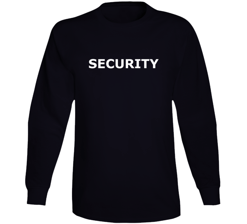 Security ( White Font ) Popular Event Long Sleeve