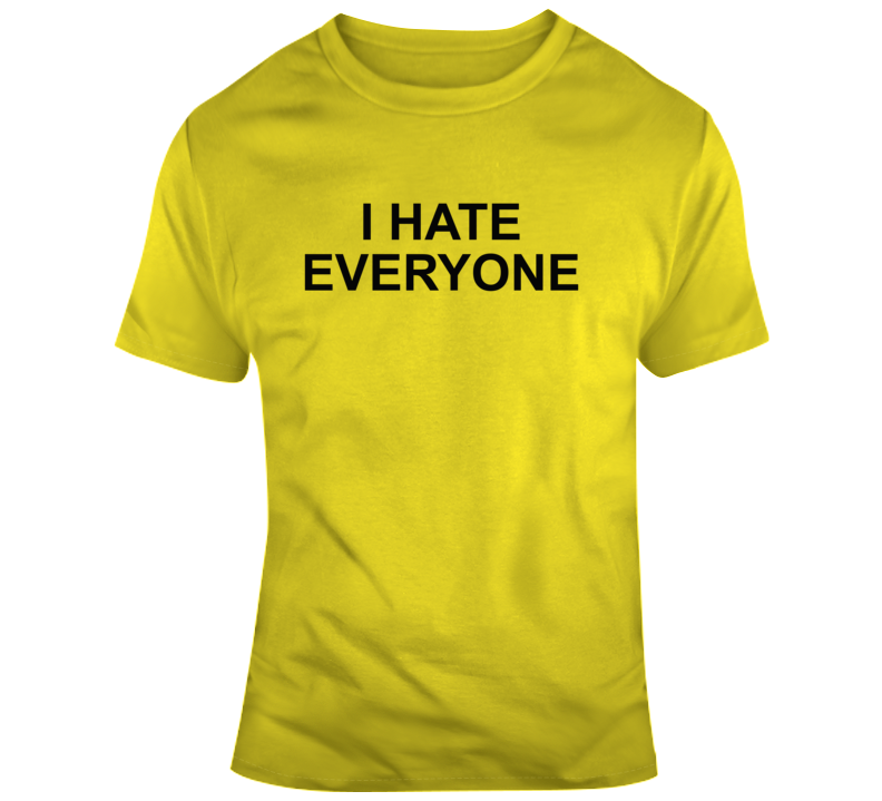 I Hate Everyone Where Do You See Yourself In 50 Years Popular Classic T Shirt