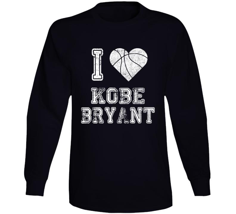 I Love Kobe Bryant Rip Basketball Long Sleeve