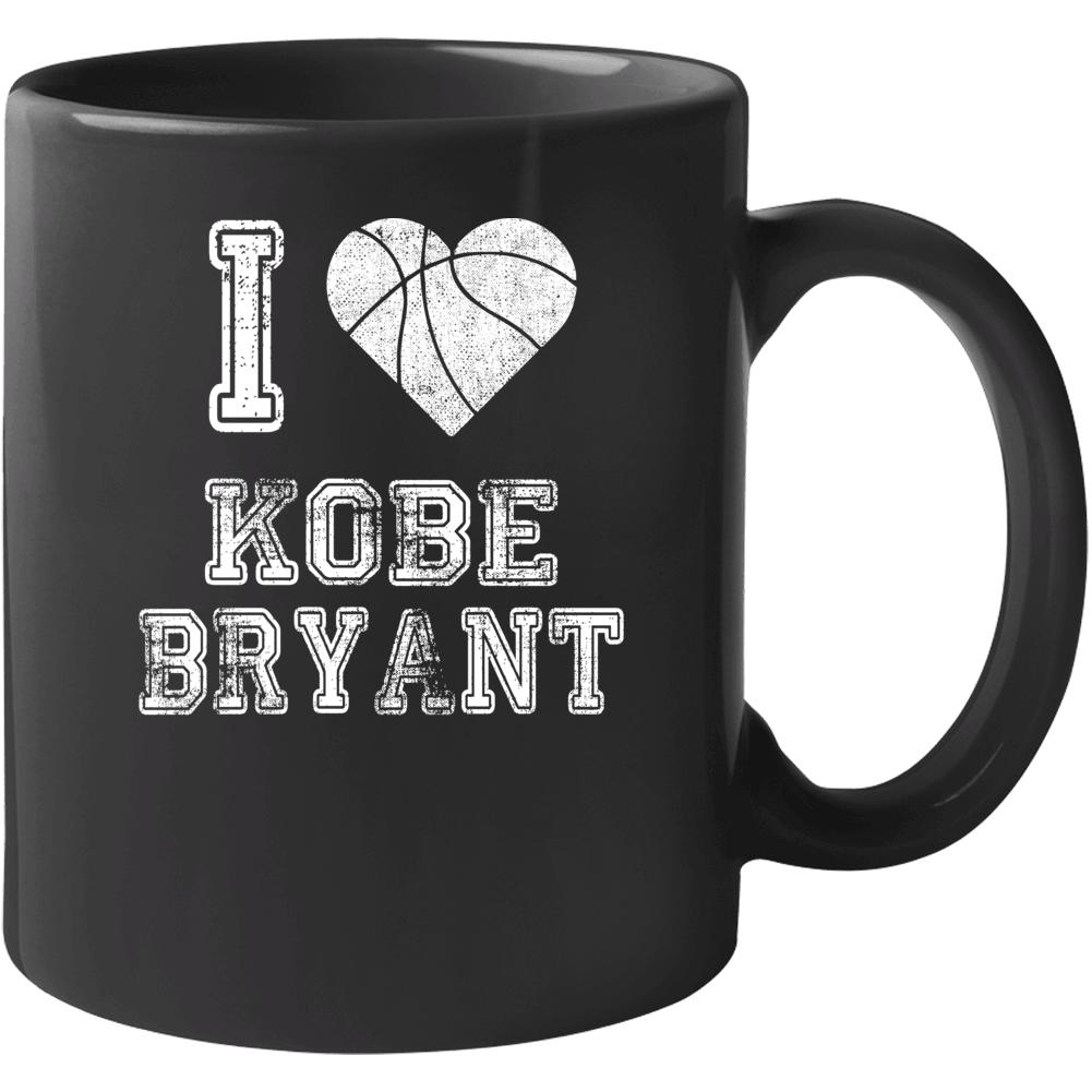 I Love Kobe Bryant Rip Basketball Mug