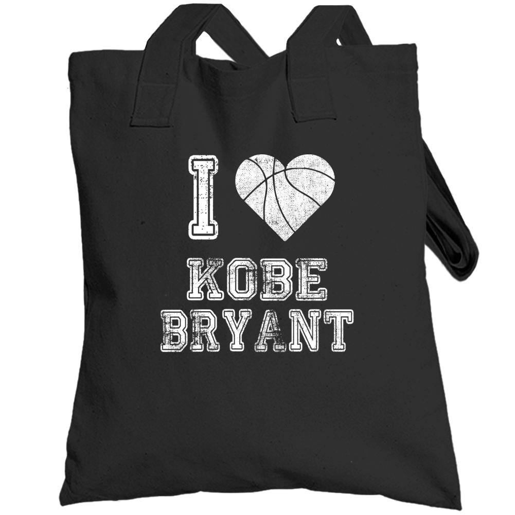 I Love Kobe Bryant Rip Basketball Totebag