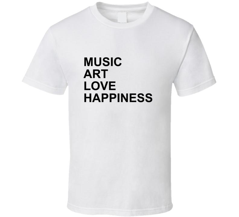 Music Love Art Happiness Jlo Jennifer Lopez Inspired Gym T Shirt