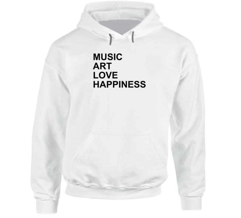 Music Love Art Happiness Jlo Jennifer Lopez Inspired Gym Hoodie