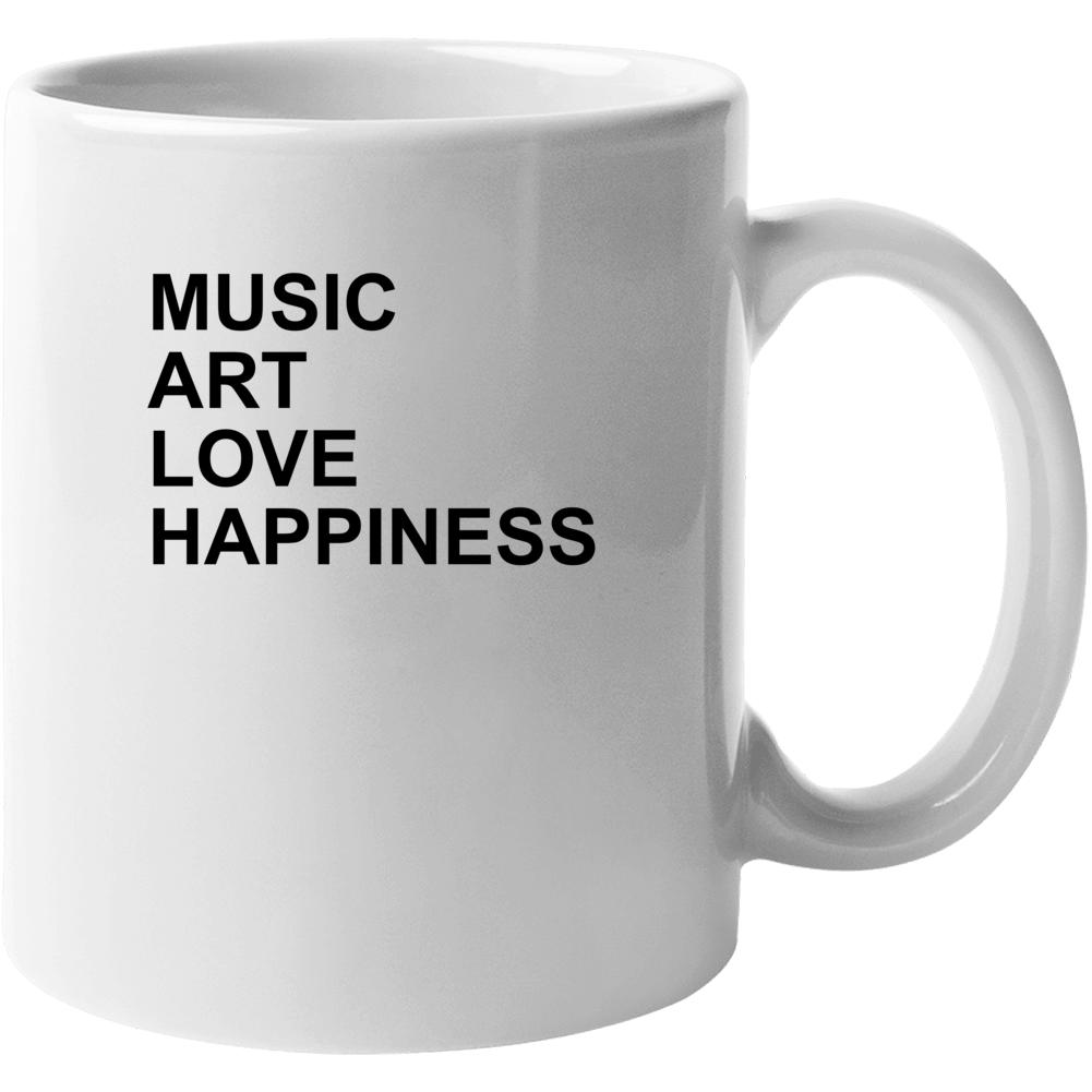 Music Love Art Happiness Jlo Jennifer Lopez Inspired Gym Mug