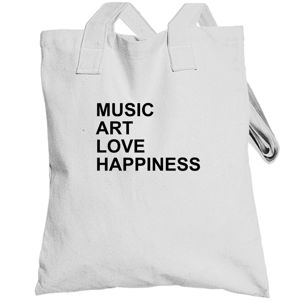 Music Love Art Happiness Jlo Jennifer Lopez Inspired Gym Totebag
