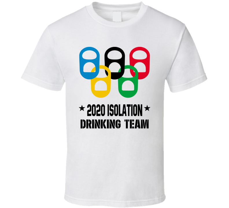 2020 Isolation Drinking Team Covid 19 Social Distancing T Shirt