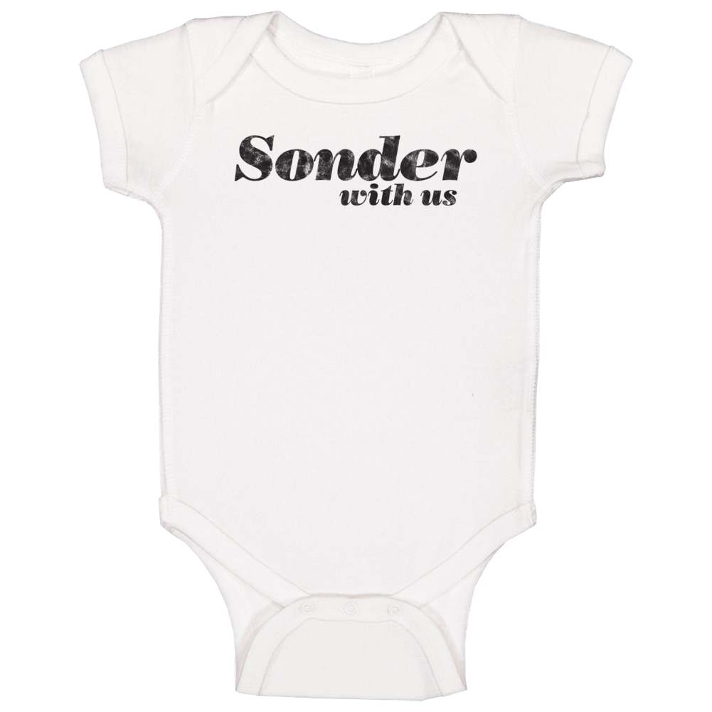 Sonder With Us - Life Style Baby One Piece  (Distressed Font)