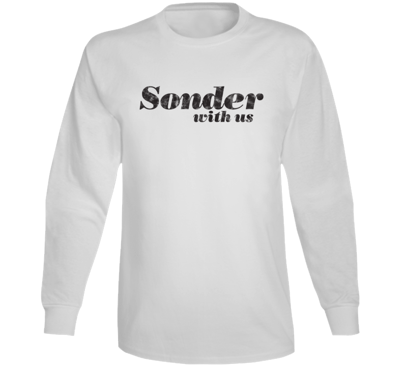 Sonder With Us - Life Style Long Sleeve  (Distressed Font)