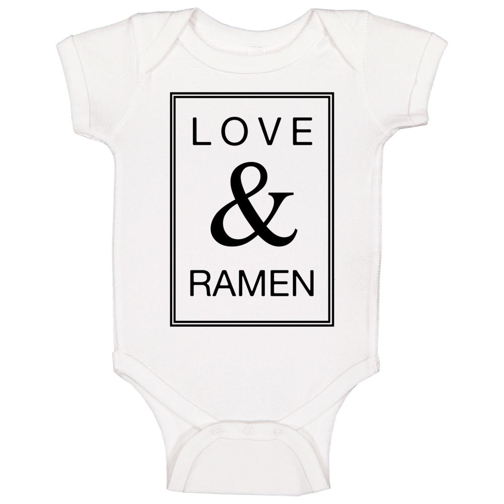 Love & Ramen Funny Popular Baby One Piece