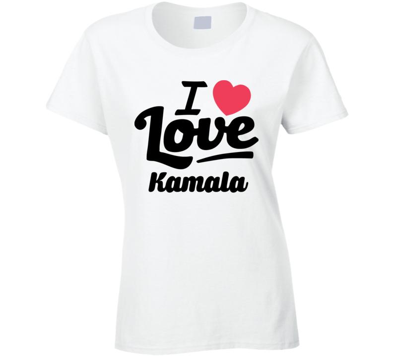 I Love Vice President Kamala Harris Popular Ladies T Shirt