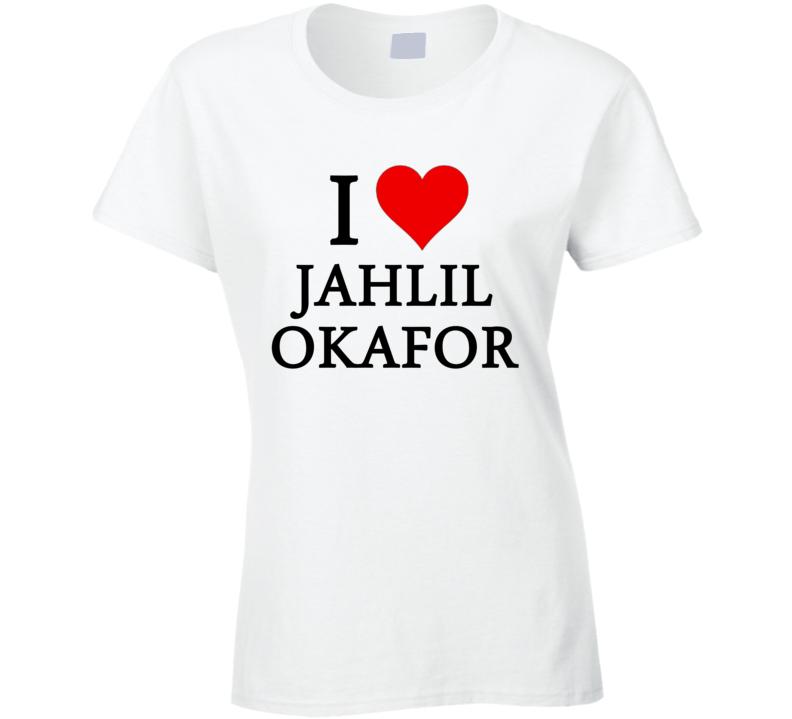 I Heart / Love Jahlil Okafor (Black Font) Basketball T Shirt