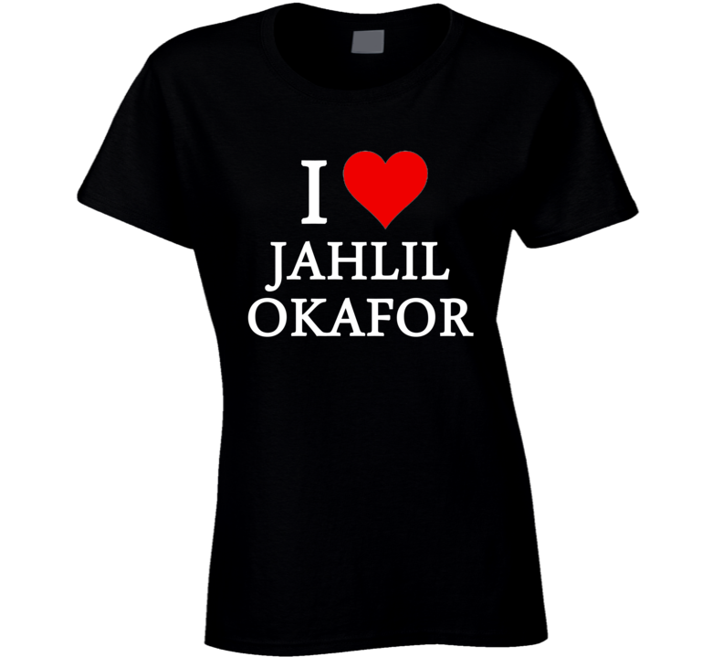 I Heart / Love Jahlil Okafor (White Font) Basketball T Shirt