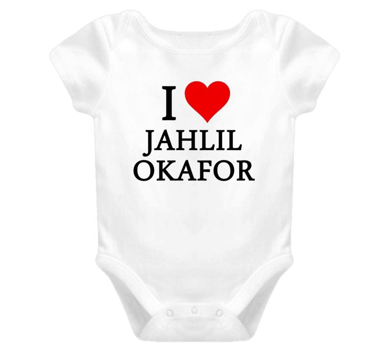 I Heart / Love Jahlil Okafor (Black Font) Basketball Baby Onesie T Shirt