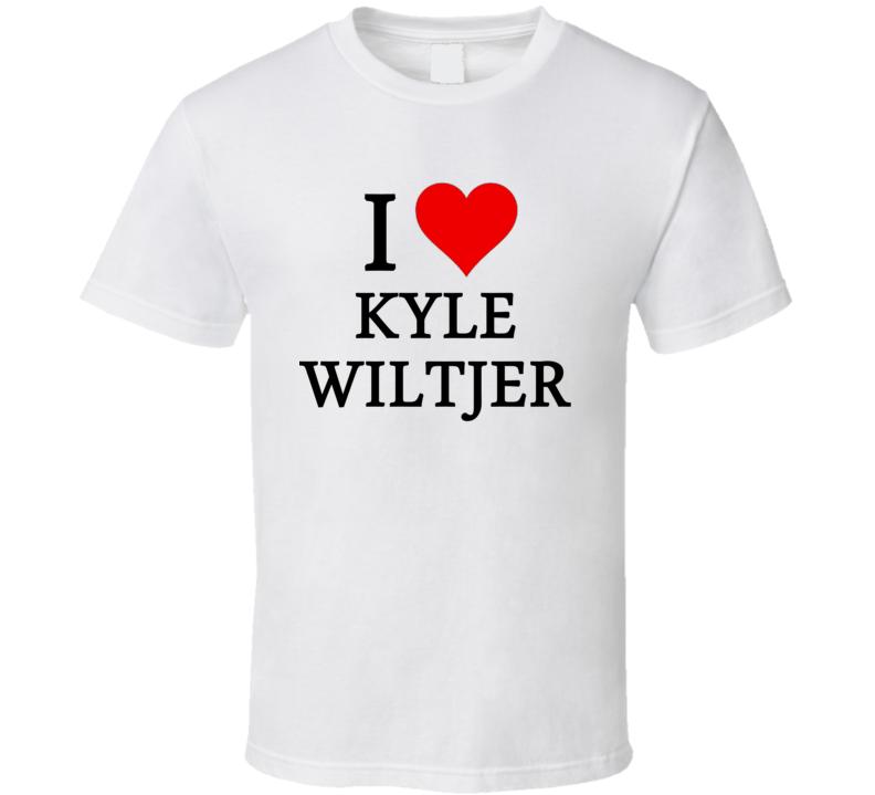 I Heart / Love Kyle Wiltjer (Black Font) Basketball T Shirt