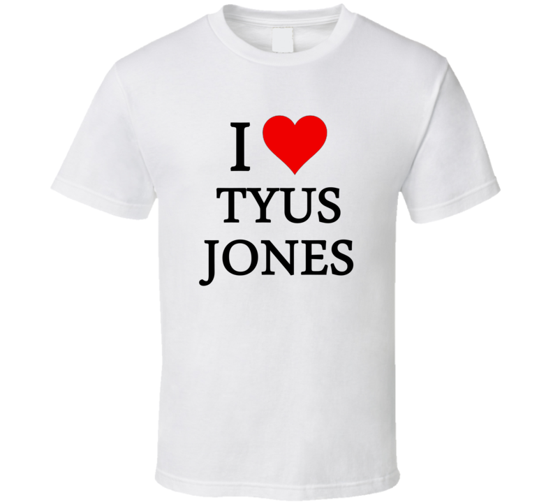 I Heart / Love Tyus Jones (Black Font) Basketball T Shirt