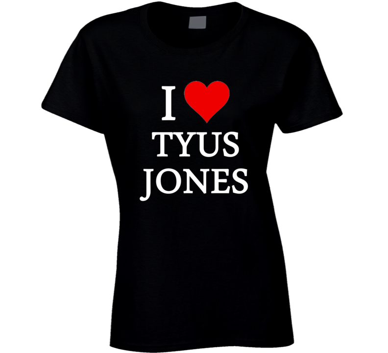 I Heart / Love Tyus Jones (White Font) Basketball T Shirt