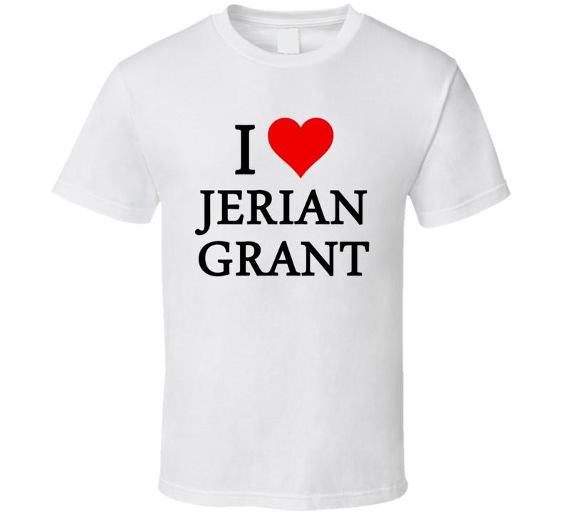 I Heart / Love Jerian Grant (Black Font) Basketball T Shirt
