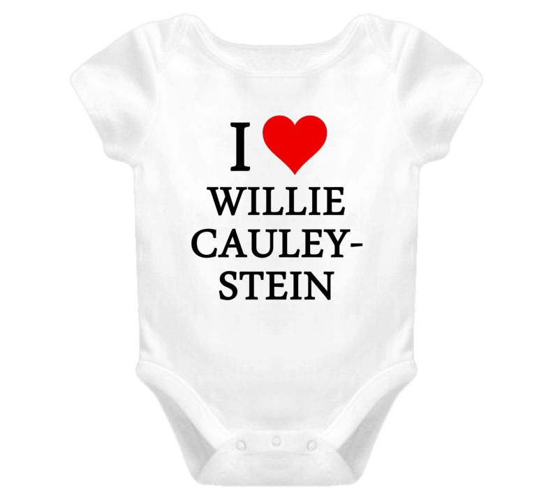 I Heart / Love Willie Cauley-Stein (Black Font) Baby Onesie Basketball T Shirt