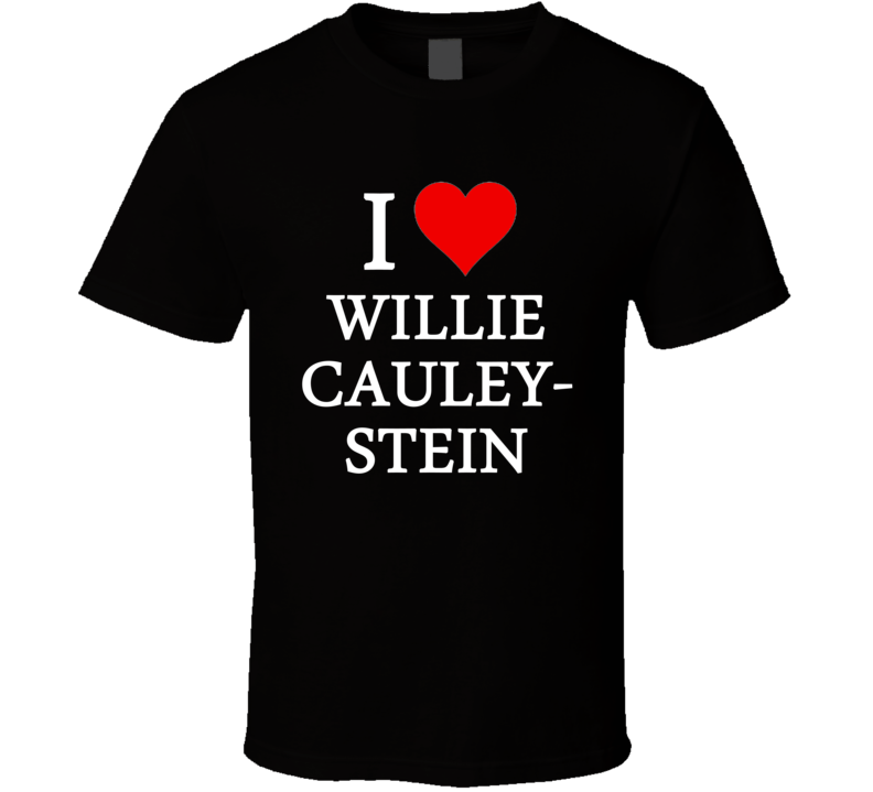 I Heart / Love Willie Cauley-Stein (White Font) Basketball T Shirt
