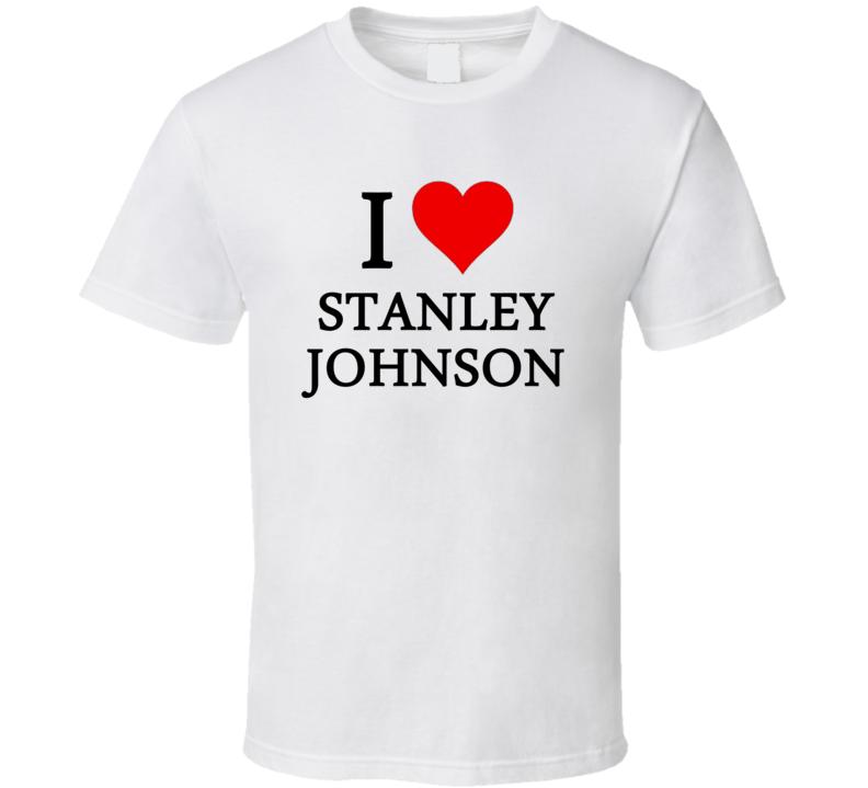 I Heart / Love Stanley Johnson (Black Font) Basketball T Shirt
