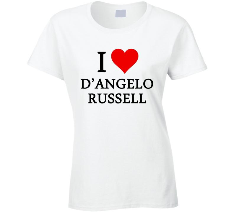 I Heart / Love D'Angelo Russell (Black Font) Basketball T Shirt