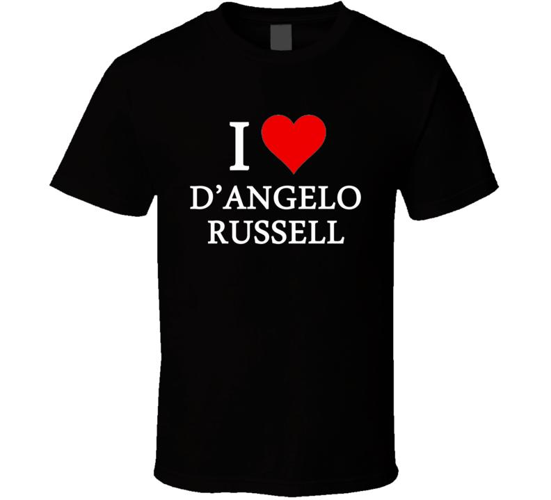 I Heart / Love D'Angelo Russell (White Font) Basketball T Shirt