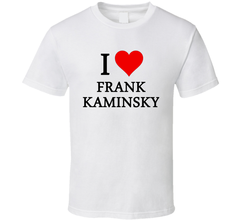 I Heart / Love Frank Kaminsky (Black Font) Basketball T Shirt