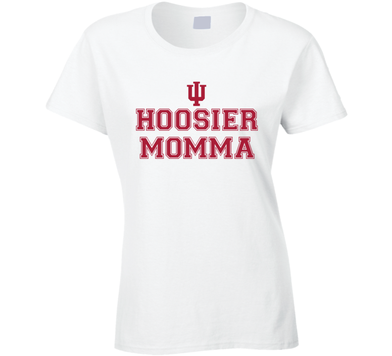 Hoosier Momma - Indiana College Football Inspired (Varsity Font) Funny T Shirt