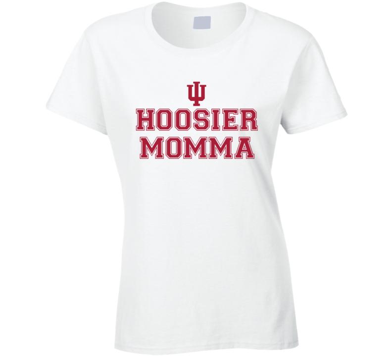 Hoosier Momma - Indiana College Football Inspired (Varsity Font) Funny T Shirt