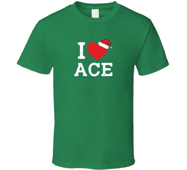 I Heart Love Ace Christmas Cute Custom Name Family Friend Gift T Shirt