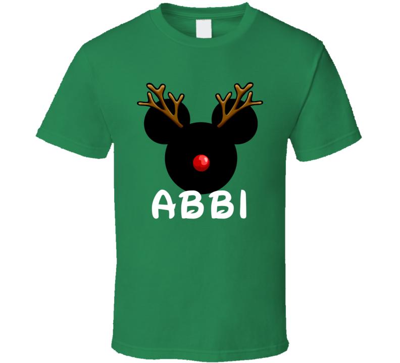Abbi Arabic Dad Mickey Christmas Custom Gift T Shirt