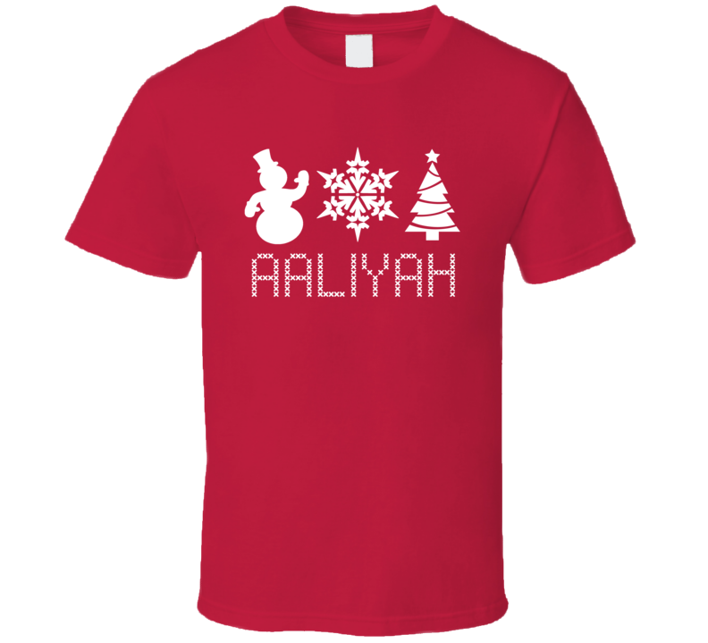 Aaliyah Snowman Snowflake Christmas Tree Cute Name Holiday Gift T Shirt