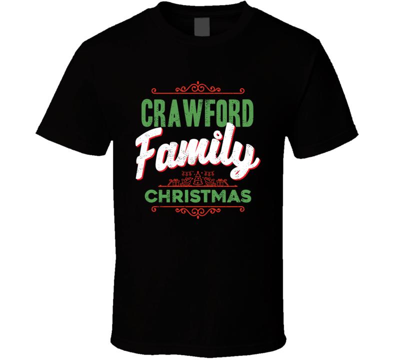 Crawford Family Christmas Love Holidays Custom Last Name Gift T Shirt