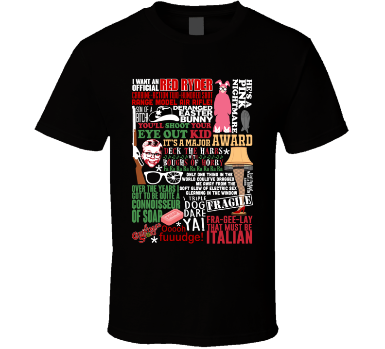 a christmas story funny holiday movie quote mashup cool xmas gift t shirt