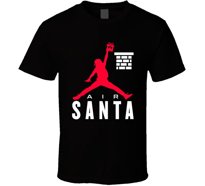 Air Santa Christmas Jordan Jumpman Parody Holiday Sports Fan Gift T Shirt