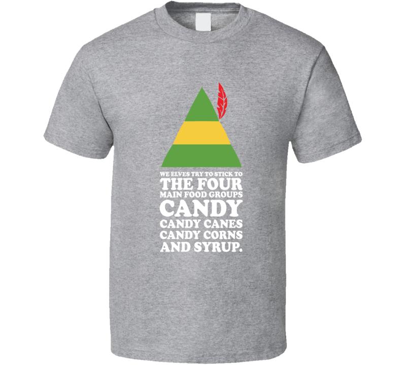 The Four Main Food Groups Elf T Shirt