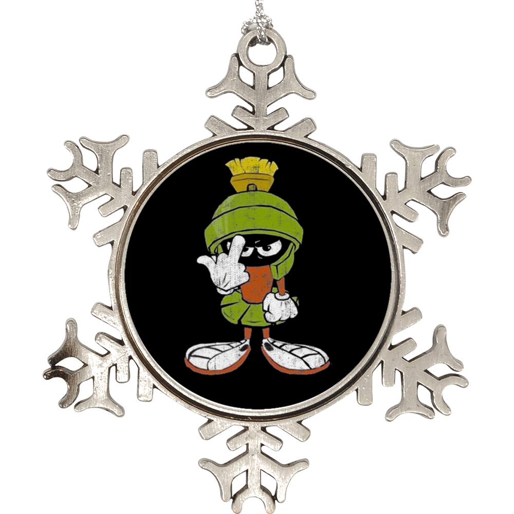 Marvin The Martian Middle Finger Flipping The Bird Looney Toons Holiday Ornament